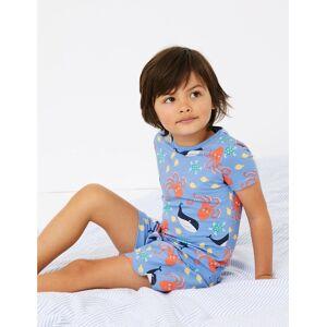Marks & Spencer Pyjashort en coton à imprimé marin (du 1 au 7ans) - Blanc - 18-24 mois