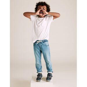Marks & Spencer Jean skinny en coton (du 2 au 7ans) - Blanc - 6-7 ans