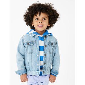 Marks & Spencer Veste en jean (du 2 au 16ans) - Blanc - 6-7 ans