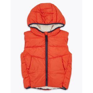 Marks & Spencer Veste sans manches matelassée en polaire (du 2 au 7ans) - Orange - 5-6 ans
