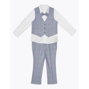 Marks & Spencer Costume 4pièces à carreaux (du 2 au 7ans) - Bleu - 4-5 ans