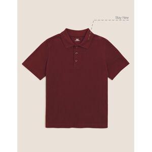 Marks & Spencer Polo unisexe 100% coton - Marron, Rouge - 6-7 ans