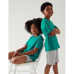 Marks & Spencer T-shirt unisexe 100% coton - Vert bleu - 6-7 ans