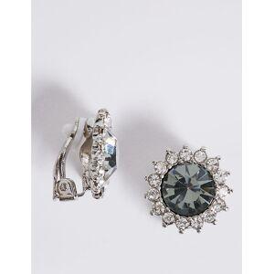 Marks & Spencer Flower Crystal Stud Earrings - Noir