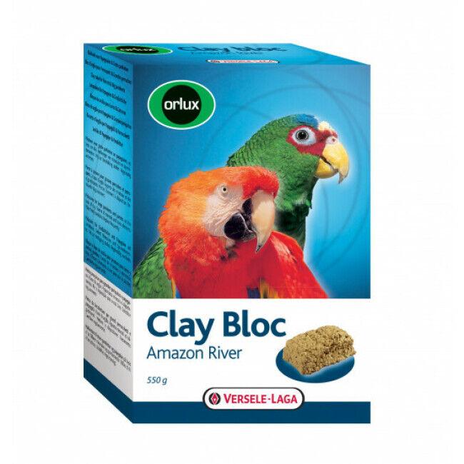 Versele Laga Bloc d'argile à picorer Clay Bloc Amazon River Orlux pour oiseaux