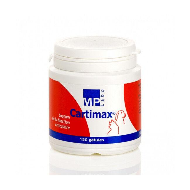 MP Labo Cartimax Compléments alimentaires pour articulations chiens et chats Pilulier 150 Gelules