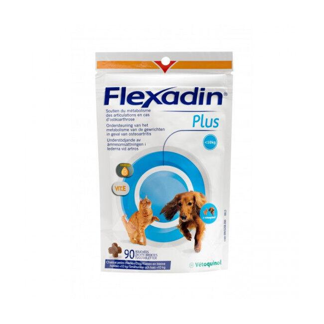 Vétoquinol Complément alimentaire Flexadin Plus Mini articulations pour chien et chat - 10 kg 90 bouchées