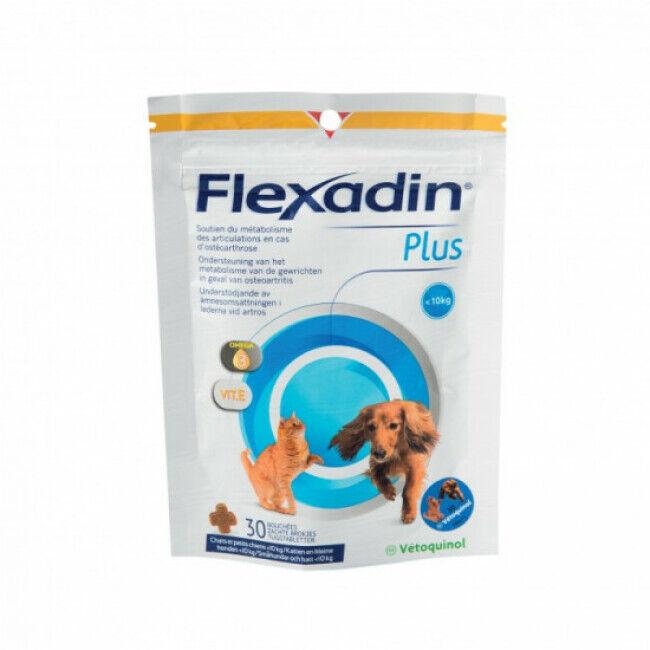 Vétoquinol Complément alimentaire Flexadin Plus Mini articulations pour chien et chat - 10 kg 30 bouchées