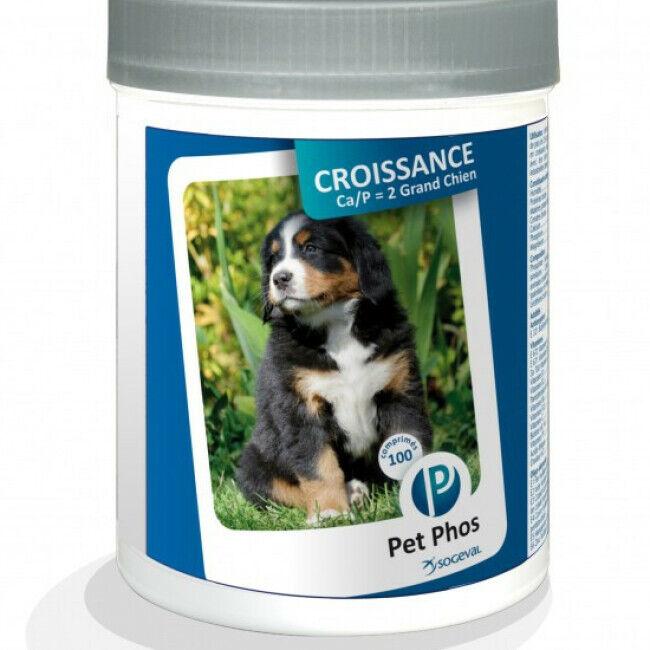 Ceva Complément alimentaire Pet-Phos Croissance pour grand chien boîte 100 comprimés