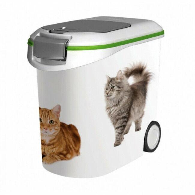 Curver Conteneur à croquettes sur roues Curver pour chat Contenance 12 kg (35 Litres)