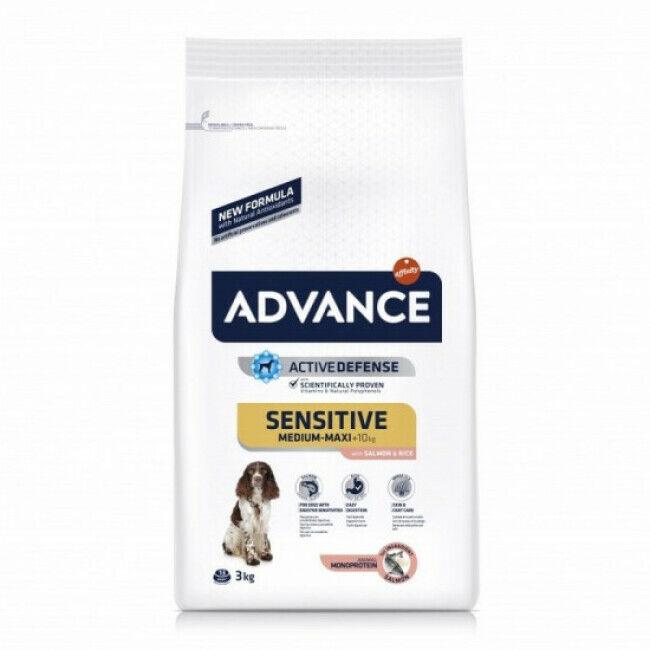 Advance Croquettes Advance Sensitive Saumon et Riz pour chiens Sac 3 kg