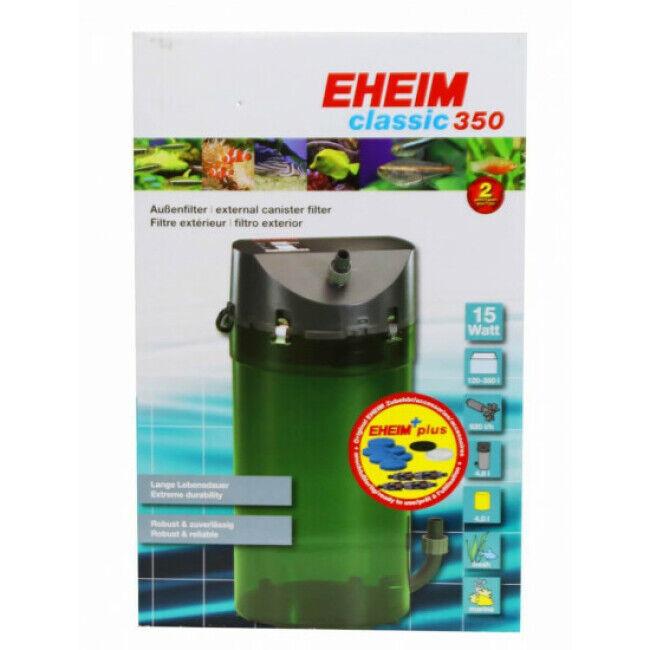 Eheim Filtre externe pour aquarium Eheim Classic 350 avec robinets et mousses