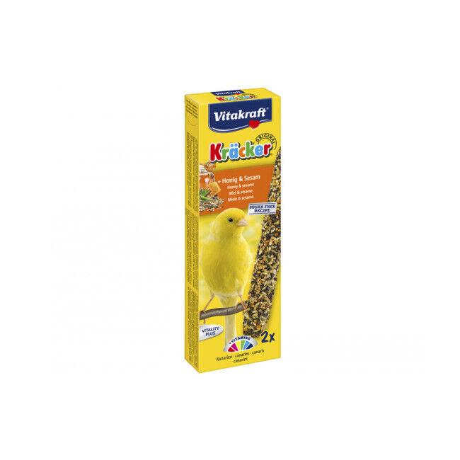 Vitakraft Friandises pour canaris Kräcker miel et sésame - 1 boîte de 2 Kräcker