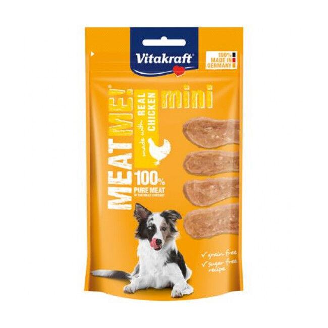 Vitakraft Friandises sans céréales Meat Me ! Mini Vitakraft pour petit chien au poulet - 60 g