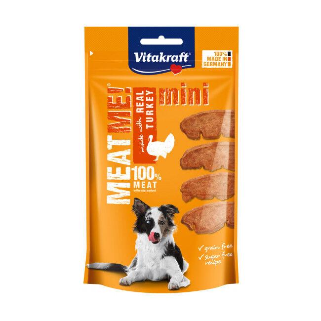 Vitakraft Friandises sans céréales Meat Me ! Mini Vitakraft pour petit chien à la dinde - 60 g