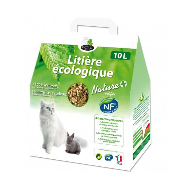 Naturlys Litière écologique naturelle en granules pour chats et rongeurs Sac 10 litres