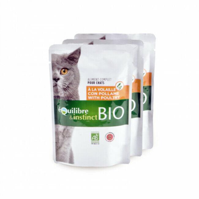 Equilibre et Instinct Mitonné Bio Equilibre et Instinct pour chat Adulte Volaille 22 x 100 g