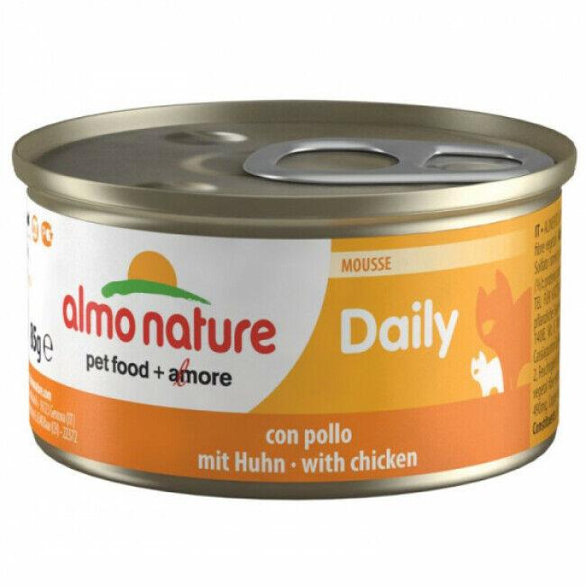 Almo Nature Pâtée pour chat Almo Nature Daily Menu - lot 6 boîtes 85 g Mousse avec poulet