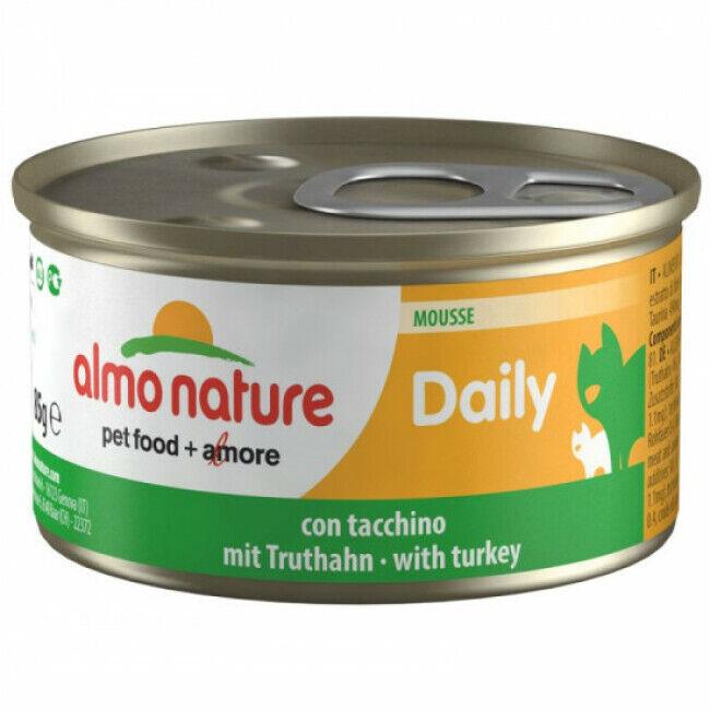 Almo Nature Pâtée pour chat Almo Nature Daily Menu - lot 6 boîtes 85 g Mousse avec dinde