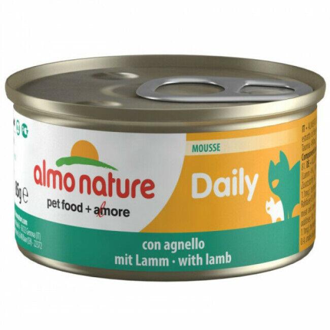 Almo Nature Pâtée pour chat Almo Nature Daily Menu - lot 6 boîtes 85 g Mousse avec agneau