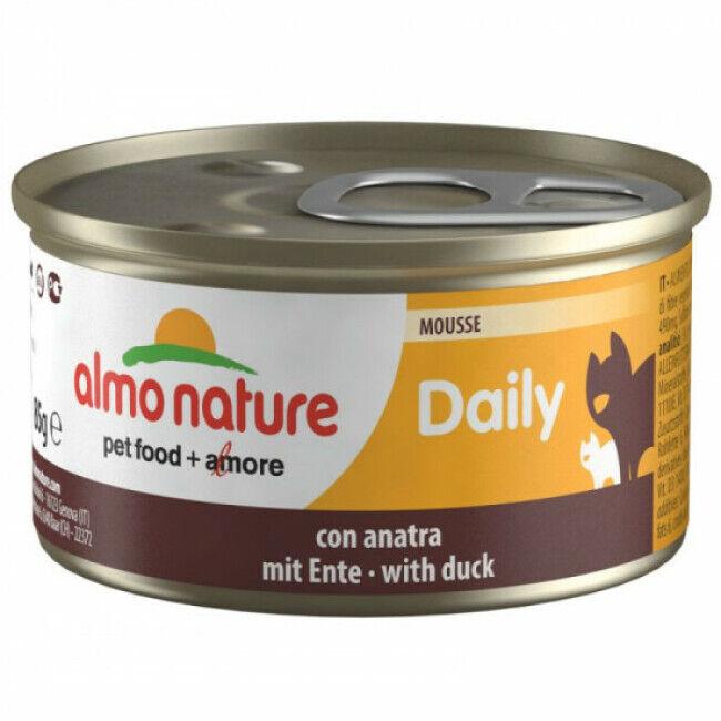 Almo Nature Pâtée pour chat Almo Nature Daily Menu - lot 6 boîtes 85 g Mousse avec canard