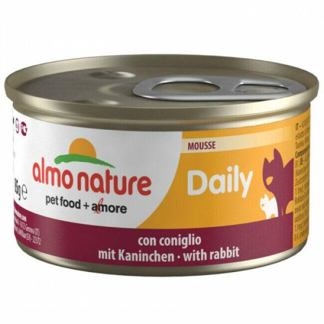 Almo Nature Pâtée pour chat Almo Nature Daily Menu - lot 6 boîtes 85 g Mousse avec lapin