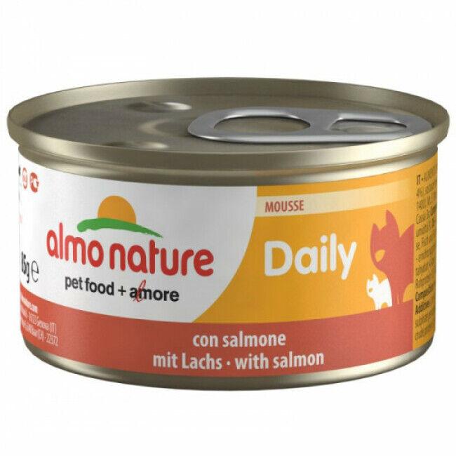 Almo Nature Pâtée pour chat Almo Nature Daily Menu - lot 6 boîtes 85 g Mousse avec saumon