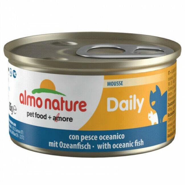 Almo Nature Pâtée pour chat Almo Nature Daily Menu - lot 6 boîtes 85 g Mousse avec poisson de l'océan
