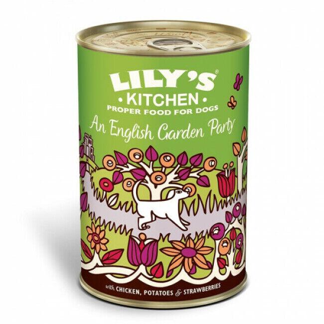 Lily's Kitchen Pâtée pour chien au poulet, pommes de terre et fraises Lily's Kitchen - Boîte 400 g