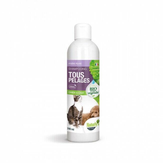 Naturlys Shampoing Bio Naturlys entretien tout pelage pour chiens et chats Flacon 240 ml