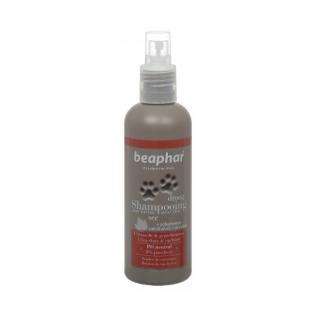 Beaphar Shampoing hydratant Beaphar eau de rose et bambou peau sèche pour chat et chaton 200 ml