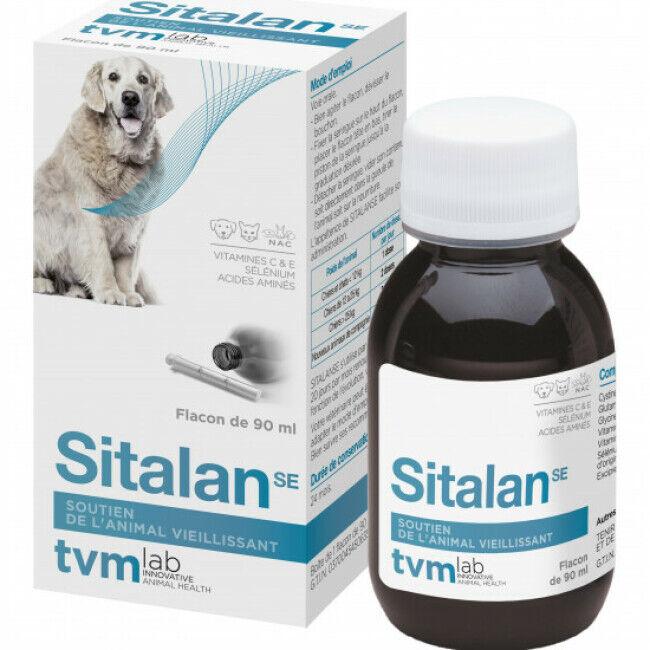TVM Sitalan SE Compléments alimentaires anti-vieillissement pour chiens et chats Suspension orale Flacon 90 ml