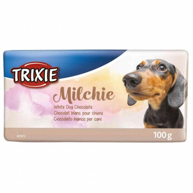 Trixie Tablette chocolat Trixie pour chien Milchie Chocolat blanc