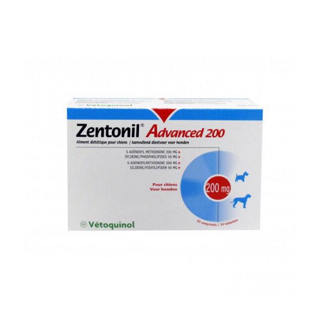 Vétoquinol Zentonil Advanced Compléments alimentaires troubles hépatiques pour chiens 400 mg