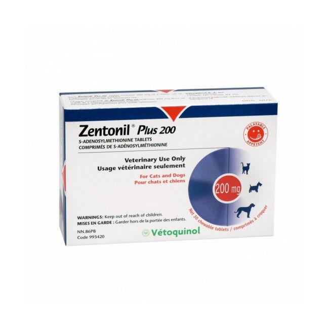 Vétoquinol Zentonil Plus Compléments alimentaires troubles hépatiques Pour chiens et chats 200 mg