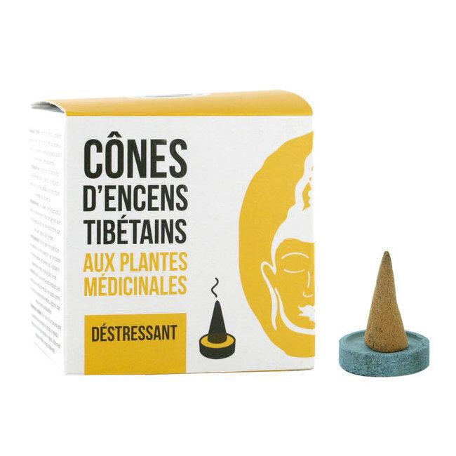 Encens du Monde Cône d'encens Tibétains Déstressant aux plantes médicinales - 15 cônes
