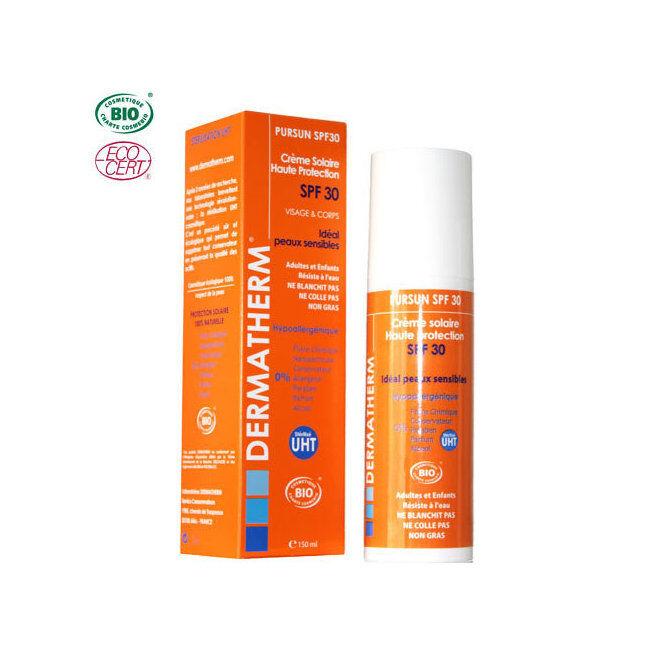 Dermatherm PurSun Crème solaire bio SPF 30 Visage & Corps 150ml