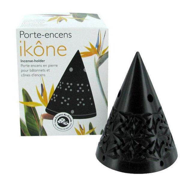 Encens du Monde Porte Encens Ikône pour cônes d'encens en pierre naturelle