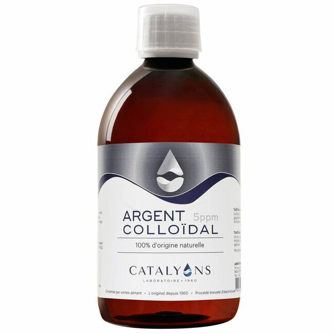 Catalyons Argent Colloïdal 5 ppm - Antibactérien - Flacon 500 ml