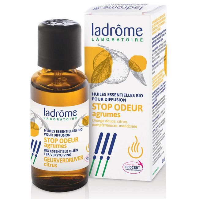 Ladrôme Stop Odeur Agrumes - Mélange huiles essentielles pour diffuseur bio 30ml