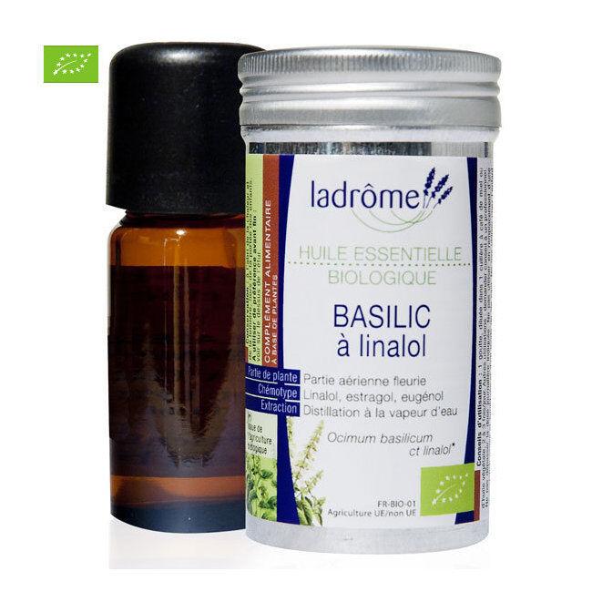 Ladrôme Huile essentielle bio de Basilic 10ml