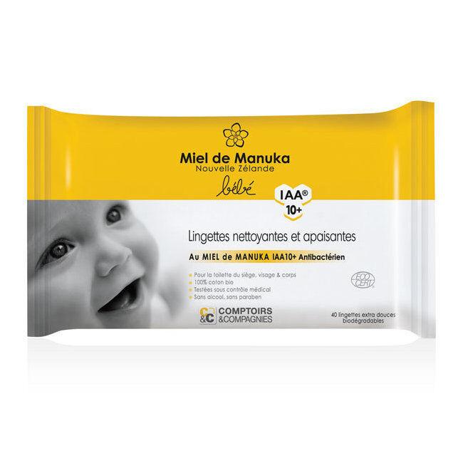 Comptoirs et Compagnies Lingettes bébé bio au miel de Manuka