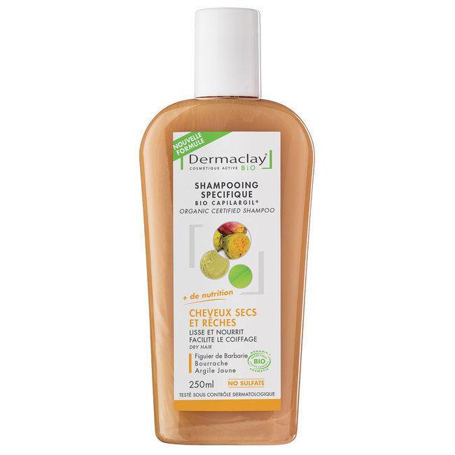 Dermaclay Shampoing Bio Capilargil pour Cheveux secs 250ml