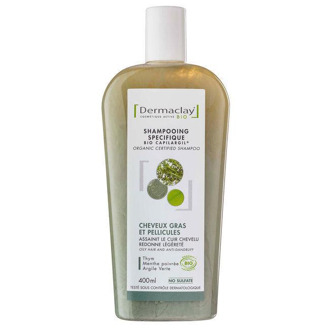 Dermaclay Shampoing Bio Capilargil Cheveux gras & Pellicules Argile verte 400ml