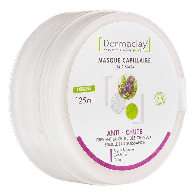 Dermaclay Masque capillaire bio Anti-chute 125ml
