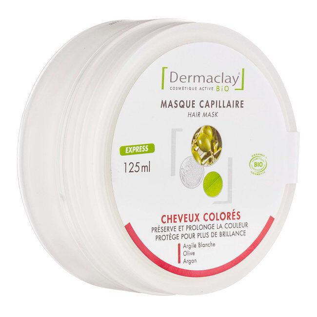 Dermaclay Masque capillaire Cheveux colorés bio Express 125ml