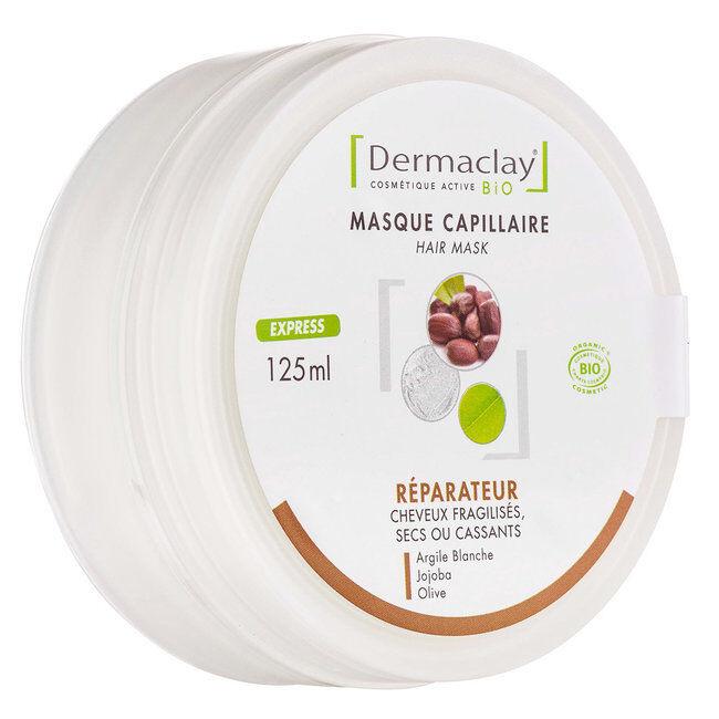 Dermaclay Masque réparateur bio Cheveux secs 125ml