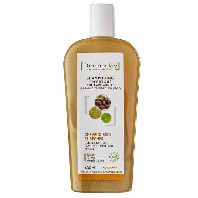 Dermaclay Shampoing Bio Capilargil Cheveux secs Argile jaune 400ml