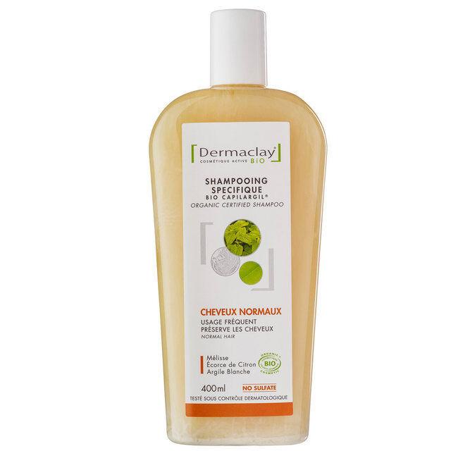 Dermaclay Shampoing Bio Capilargil Cheveux normaux Argile blanche 400ml