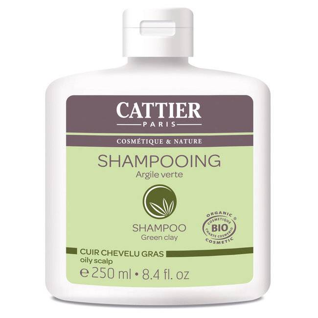 Cattier Shampoing Cheveux gras bio Argile verte 250ml